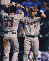 Joe Mauer & Justin Morneau 2010 Action Fine Art Print