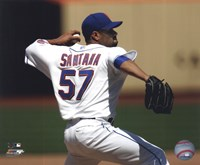 "Johan Santana 2010 Action - 10"" x 8"""