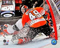 Michael Leighton 2009-10 Playoff Action Fine Art Print