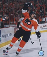 """Danny Briere 2009-10 Playoff Action - 8"""" x 10"""", FulcrumGallery.com brand"""