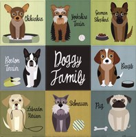 Doggy Family Fine Art Print