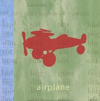 Vintage Toys Airplane Framed Print