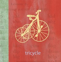 """Vintage Toys Tricycle by Paula Scaletta - 12"""" x 12"""""""