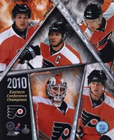 Philadelphia Flyers 2009-10 Eastern Conference Champions Team Composite Fine Art Print