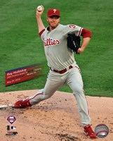 """Roy Halladay Perfect Game Action with Overlay - 8"""" x 10"""""""