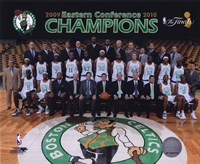 2009-10 Boston Celtics Team Photo with Eastern Conference Champions Overlay Fine Art Print