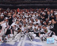 2009-10 Chicago Blackhawks Team Celebration on Ice Fine Art Print