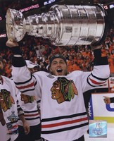 Patrick Kane with the 2009-10 Stanley Cup (#27) Fine Art Print