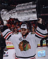 """Antti Niemi with the 2009-10 Stanley Cup (#29) - 8"""" x 10"""""""