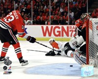 """Dustin Byfuglien Game Five of the 2010 NHL Stanley Cup Finals Goal (#19) - 10"""" x 8"""", FulcrumGallery.com brand"""