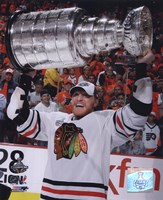 Marian Hossa with the 2009-10 Stanley Cup (#30) Fine Art Print