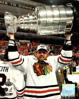 """Brian Campbell with the 2010 Stanley Cup (#34) - 8"""" x 10"""""""