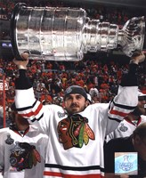 "David Bolland with the 2010 Stanley Cup (#33) - 8"" x 10"", FulcrumGallery.com brand"