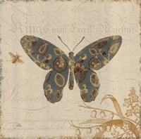 Natures Pattern II in Blue Framed Print