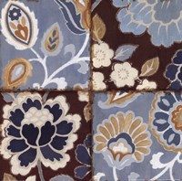 Patchwork Motif Blue I Fine Art Print