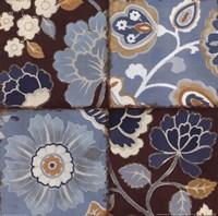 Patchwork Motif Blue II Fine Art Print