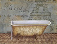 """Voyage Romantique Bath I by Daphne Brissonnet - 10"""" x 8"""" - $9.99"""