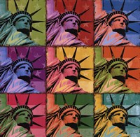 Pop Liberty Framed Print
