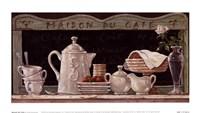 """Maison Du Cafe by Janet Kruskamp - 9"""" x 5"""", FulcrumGallery.com brand"""