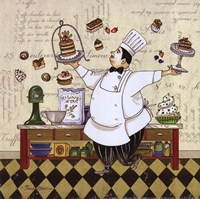 Chef Pastry Framed Print