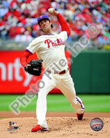 Cole Hamels 2010 Action Fine Art Print