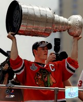 """Jonathan Toews Chicago Blackhawks 2010 Stanley Cup Champions Victory Parade (#49) - 8"""" x 10"""""""