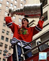 Patrick Kane Chicago Blackhawks 2010 Stanley Cup Champions Victory Parade (#50) Fine Art Print