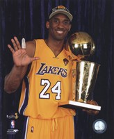 Kobe Bryant - 2010 NBA Finals Game 7 - Championship Trophy/5 Fingers in Studio(#27) Fine Art Print