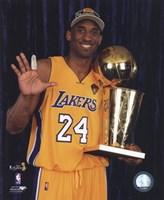 Kobe Bryant - 2010 NBA Finals Game 7 - Championship Trophy/5 Fingers in Studio(#27) Fine Art Print