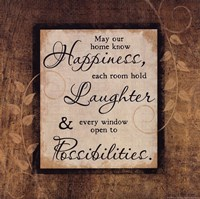 Happiness, Laughter, Possibility Framed Print