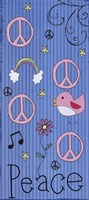 Peace - Girlie Framed Print