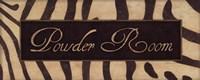 Powder Room - Zebra Fine Art Print