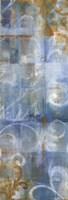 "Aqua Abstract II by Danhui Nai - 12"" x 36"", FulcrumGallery.com brand"