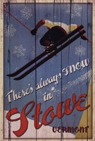 "Ski Stowe by Kate Ward Thacker - 24"" x 36"""