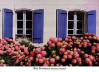 """Blus Shutters by Charlene Campbell - 36"""" x 26"""""""