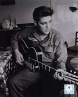 Elvis Presley wearing US Army jacket (#2) Fine Art Print