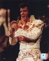 Elvis Presley Wearing a Rhinestone Jacket (#6) Fine Art Print