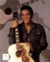 Elvis Presley Holding Gibson Guitar (#9) Fine Art Print