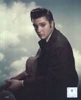 Elvis Presley with Cloud Backround (#12) Fine Art Print