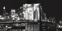Brooklyn Bridge At Night Fine Art Print
