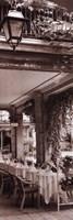 """Caffe, Bellagio by Alan Blaustein - 12"""" x 36"""""""