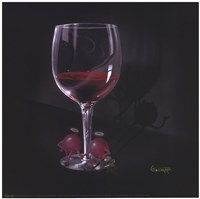 He Devil She Devil Red Wine Fine Art Print
