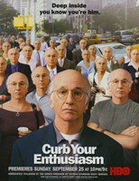 "Curb Your Enthusiasm HBO - 11"" x 17"""