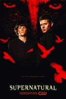 Supernatural (TV) Black and Red Framed Print