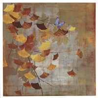 "Gingko Branch I by Asia Jensen - 19"" x 19"" - $16.49"