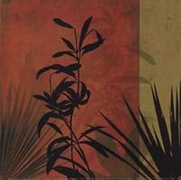 Tropical Silhouette I Fine Art Print
