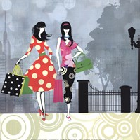 Girls Gone Shopping Fine Art Print