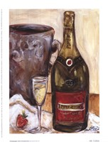 Champagne And Strawberries Framed Print