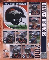 """2010 Denver Broncos Team Composite, 2010 - 8"""" x 10"""""""