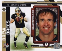 Drew Brees 2010 Studio Plus Fine Art Print